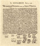 Declaration of Independence Khaki Art Print