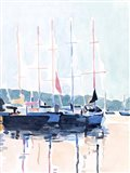 Watercolor Boat Club I Art Print