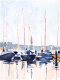 Watercolor Boat Club II Art Print