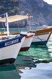 Workboats of Corfu, Greece II Art Print