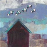 Cow Cloud Barn Art Print