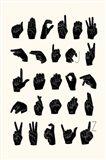 Sign Language I Art Print