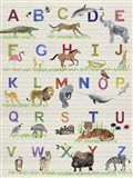 Alphabet Animals Art Print