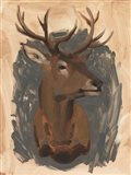 Red Deer Stag I Art Print