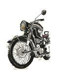 Motorcycles in Ink IV Art Print