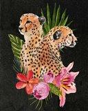 Cheetah Bouquet I Art Print