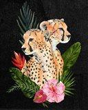 Cheetah Bouquet II Art Print
