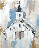Sunday Chapel I Art Print