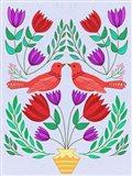 Folk Bird III Art Print
