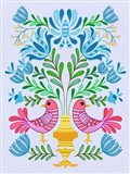 Folk Bird IV Art Print