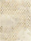 Deco Pattern in Cream IV Art Print
