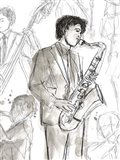 Jazz Sketchbook I Art Print