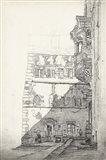 European Building Sketch I Art Print