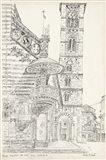 European Building Sketch II Art Print