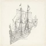 Antique Ship Sketch III Art Print