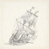 Antique Ship Sketch XI Art Print