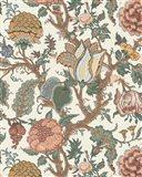 Pastel Jacobean Floral I Art Print