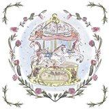 Winter Carousel I Art Print