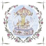 Winter Carousel IV Art Print