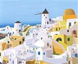 Greek Buildings I Art Print