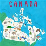 Illustrated Countries Canada Art Print