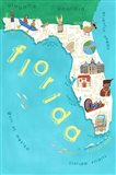 Illustrated State Maps Florida Art Print