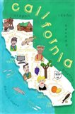 Illustrated State Maps California Art Print