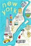 Illustrated State Maps New York Art Print