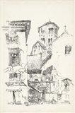 Vintage Italian Village II Art Print