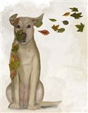 Yellow Labrador Windswept and Interesting Art Print