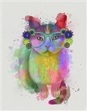 Cat Rainbow Splash 6 Art Print