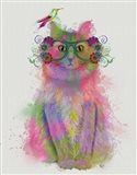 Cat Rainbow Splash 8 Art Print