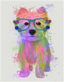 West Highland Terrier Rainbow Splash Art Print