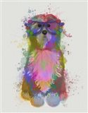 Tibetan Terrier Rainbow Splash Art Print