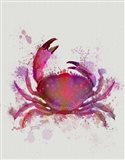 Crab 1 Pink Rainbow Splash Art Print