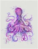 Octopus Rainbow Splash Pink Art Print