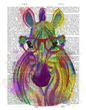 Zebra Rainbow Splash 1 Art Print