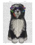 Tibetan Terrier Flower Glasses Art Print