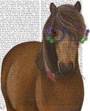 Horse and Flower Glasses Art Print