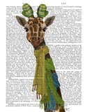 Giraffe and Scarves Art Print