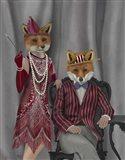 Fox Couple 1920s Art Print