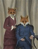 Fox Couple Edwardians Art Print