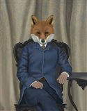Fox Edwardian Gent, Portrtait Art Print