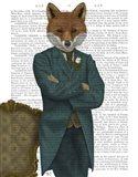Fox Victorian Gentleman Portrait Art Print