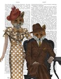 Fox Couple 1930s Art Print