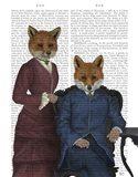 Fox Couple Edwardians Art Print