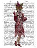 Fox Lady 1920s Flapper Art Print