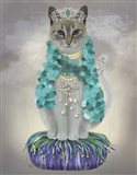 Grey Cat With Bells, Full Art Print