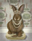 Rabbit and Pearls, Full Art Print