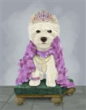 West Highland Terrier with Tiara Art Print